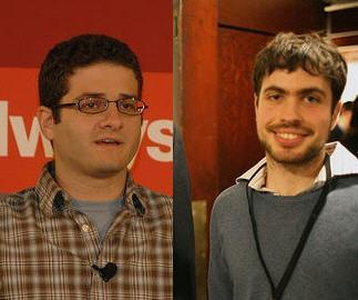 Facebook co-founder Dustin Moskovitz (left) and Justin Rosenstein (right)