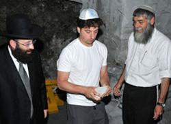 Google´s Sergey Brin at Western Wall, Jerusalem