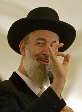 Israel's chief Ashkenazi rabbi Yona Metz