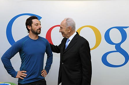 Googles' Brin and the Israeli PM