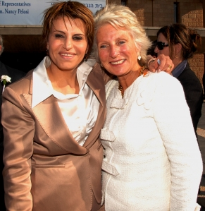 Jane Harman (right)  with Israeli Knesset Speaker, Dalia Itzik