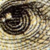 ANDREW JACKSONS' EYE ON U.S. $20 BILL:       Note The Strange Lack of a Normal Eyelid!