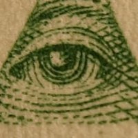 EYE IN PYRAMID ON U.S. $1 BILL