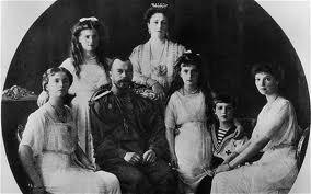 Tsar Nicholas II, along with his wife, Tsaritsa Alexandra, their 14-year-old son, Tsarevich Alexis, and their four daughters