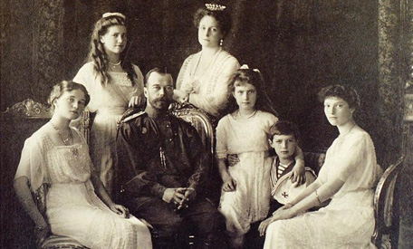 Czar Nicholas II and his family: brutally slaughtered by the Jewish Bolsheviks.